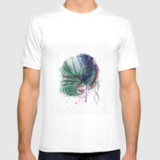 Hair SMALL White Mens Fitted Tee