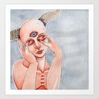Lost Lamb Art Print
