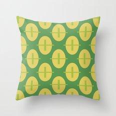 Retro Ovals 01  Throw Pillow