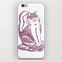 Geek Cat  iPhone & iPod Skin