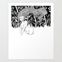 Bamboo Lake Art Print