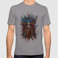 Memento Mori Mens Fitted Tee Athletic Grey SMALL