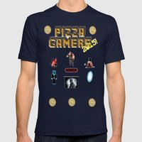 The Pizza Gamers Mens Fitted Tee Navy SMALL