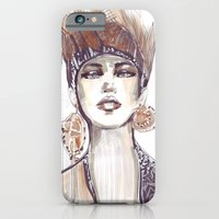 iPhone & iPod Case featuring Punk fashion illustration  by Ioana Avram