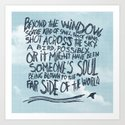 BIRD OR SOUL Art Print