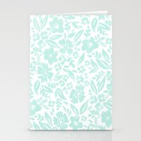 Stamp Floral Pattern Stationery Cards
