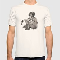 Downtime Mens Fitted Tee Natural SMALL
