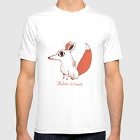 Herbert Le Renard Mens Fitted Tee White SMALL