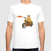 Corgi Killa Mens Fitted Tee White SMALL