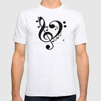 Love Music II Mens Fitted Tee Ash Grey SMALL