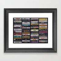 Old 80's & 90's Hip Hop … Framed Art Print