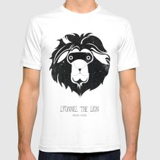 Lyonnel the Lion White SMALL Mens Fitted Tee
