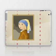 Girl with pearl by Vermeer  Laptop & iPad Skin