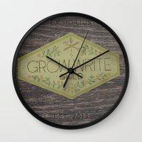 Grow Write Guild Seal Wall Clock