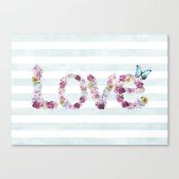 SPRING FLORAL LOVE Canvas Print