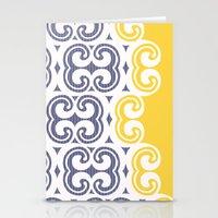 Modern Filigree  Stationery Cards