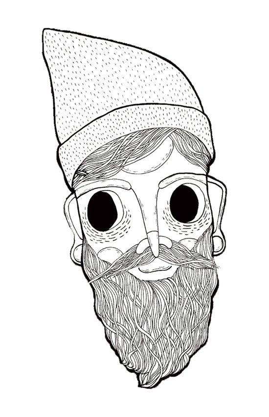 Beard Man Canvas Print