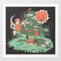 Tommy Tentacles Stole Be… Art Print