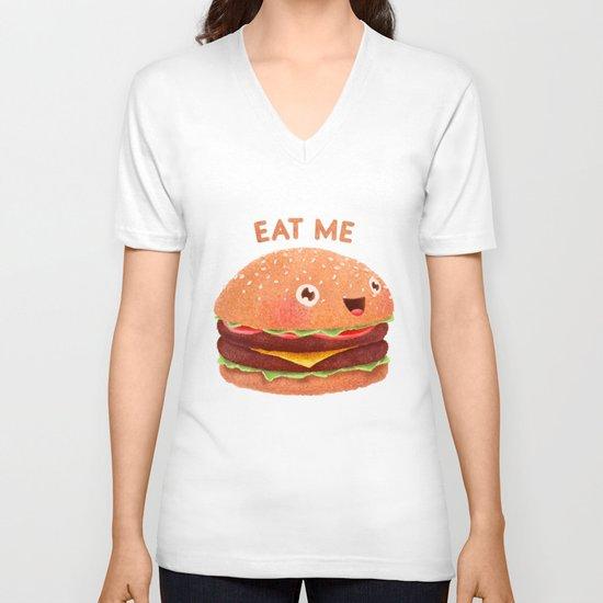 Burger V-neck T-shirt