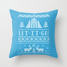 Let It Go Sweater Throw Pillow