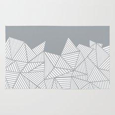 Abstract Mountain Grey Rug