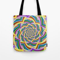 Colorful Curved Chevron Spiral Tote Bag