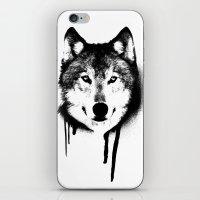 Wolf spray paint iPhone & iPod Skin