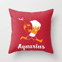 Aquarius: the Water Carrier Throw Pillow