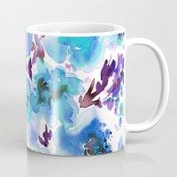Bouquet Blue Mug