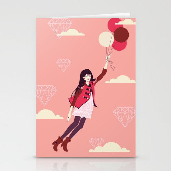 Lucy in the Sky Stationery Card