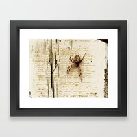 Spider Letter Framed Art Print