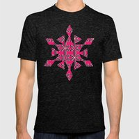 Crazy Pattern Mens Fitted Tee Tri-Black SMALL