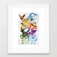 Eeveelutions Framed Art Print