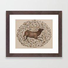 Elk in Nature Framed Art Print