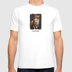 red fox White Mens Fitted Tee SMALL