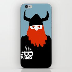 Viking and his morning coffee iPhone & iPod Skin