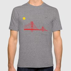 San Francisco.  Mens Fitted Tee Tri-Grey SMALL