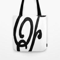 Monogrammed Letter F Tote Bag