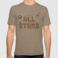 All Stars Mens Fitted Tee Tri-Coffee SMALL