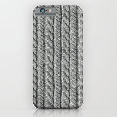 Grey Knit feeling Slim Case iPhone 6s