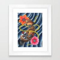 Don't Weasel Around Framed Art Print