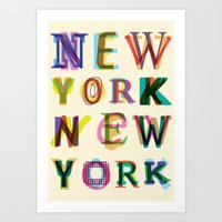 new york Art Prints featuring New York New York by Fimbis