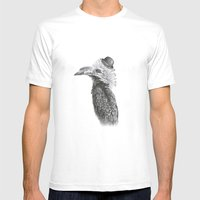 Fancy Hornbill Mens Fitted Tee White SMALL