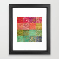 Royal Patchwork Framed Art Print