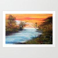 Lazy River Art Print