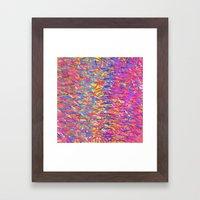 Color Cascade Framed Art Print