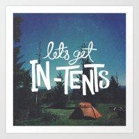 Let's Get In-Tents Art Print