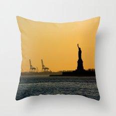South Ferry Sunset Throw Pillow
