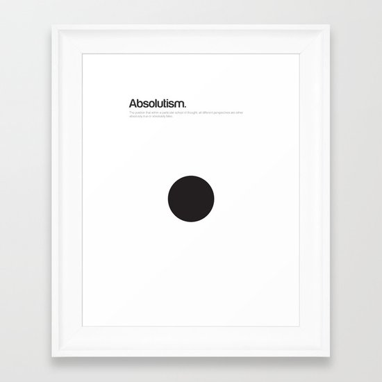 Absolutism Framed Art Print