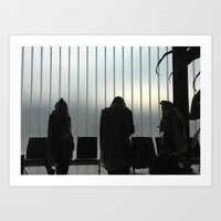 Davening - Airport Art Print